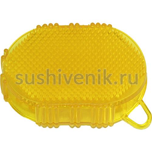 Желтый массажер мини чудо-варежка