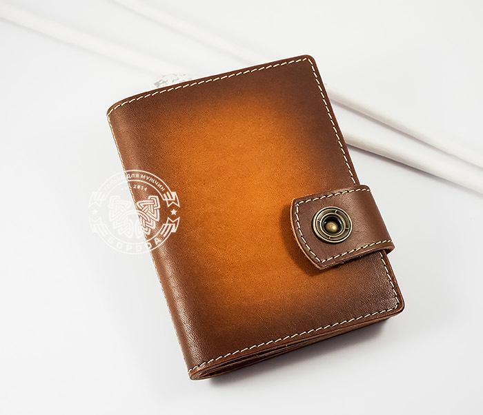 BY11-01-01 Вместительная кожаная обложка для паспорта и документов фото 02