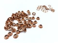 Люверсы металлические 5мм медь