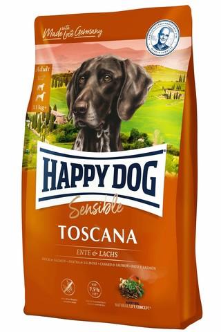 Happy Dog Supreme Sensible - Toscana с уткой и лососем 12.5 кг