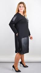 Джаз. Стильне плаття великого розміру. Чорний.