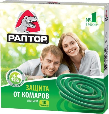 Спираль от комаров Раптор 10шт б/запаха