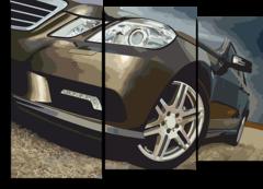 "Модульная картина ""Mercedes w212"""