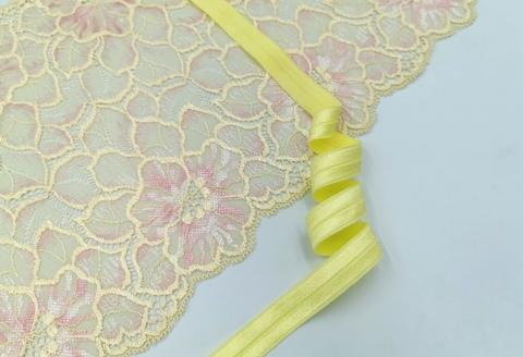 _Эластичная бейка, 15 мм, с блеском, желтая, ( Арт: TB205/15B-007), м