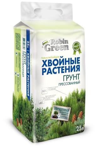 Грунт для хвойных растений Робин Грин прессованный 25л