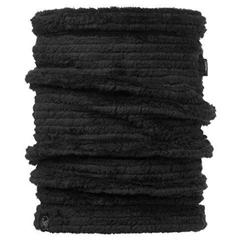 Теплый шарф-труба флисовый Buff Solid Graphite Black фото 1