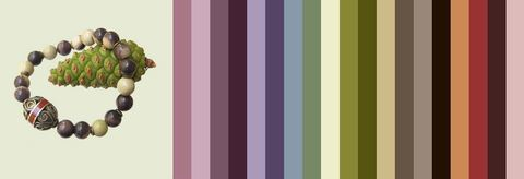 с одеждой какого цвета носить этот нефритовый браслет - пример цветовой палитры