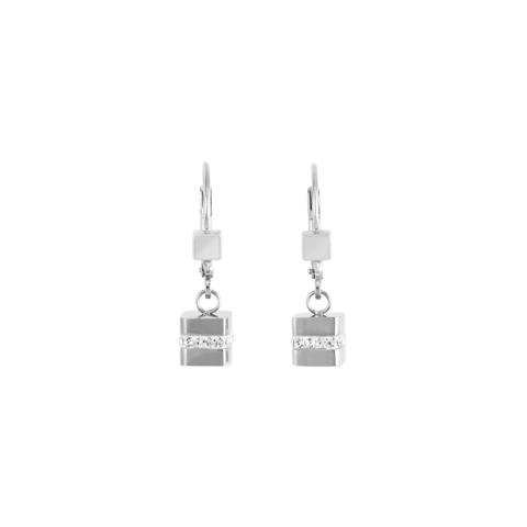 Серьги Coeur de Lion 4966/20-1700 цвет серебряный, серый