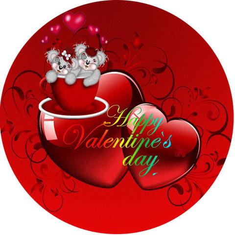 Печать на сахарной бумаге, День Влюбленных 45