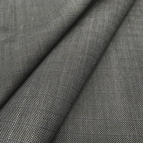 Ткань костюмно-плательная серая в полоску 3235