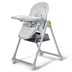 Стульчик для кормления Kinderkraft Lastree Grey с рождения