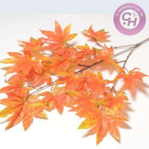 Кленовые листья 18 шт. на ветке, 70 см.