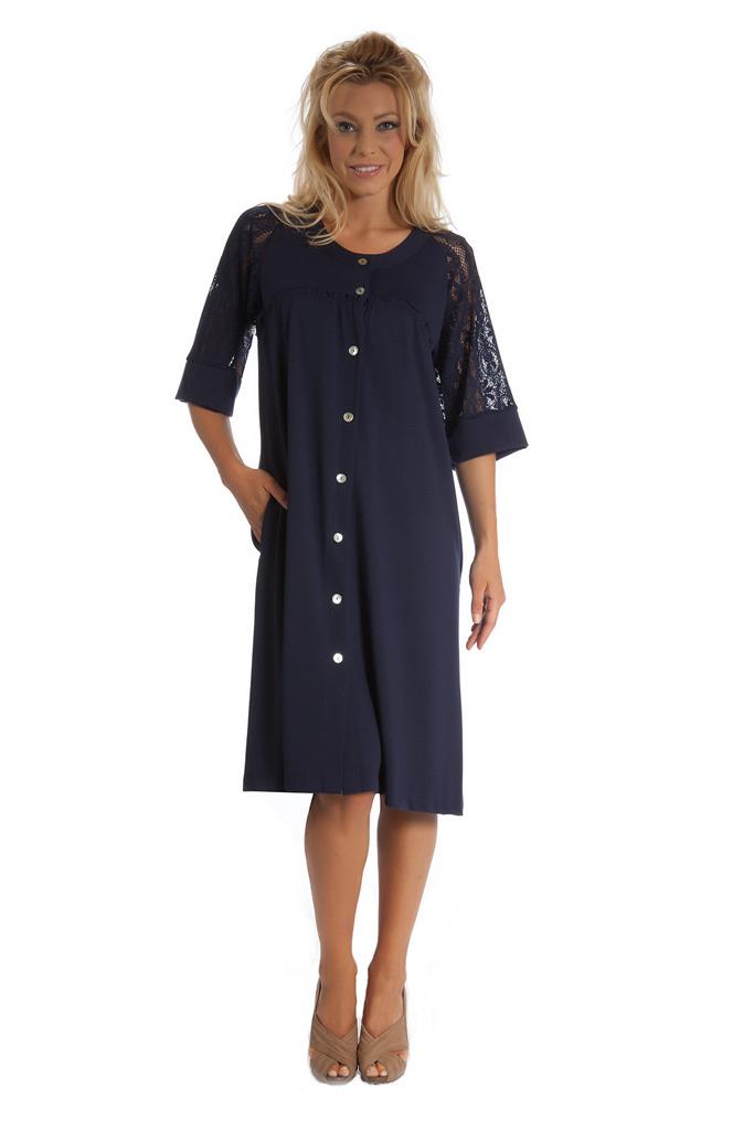 Женский халат с укороченным рукавом B&B