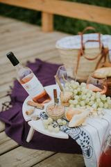 Складной столик для вина, нежно-бирюзовый, фото 3