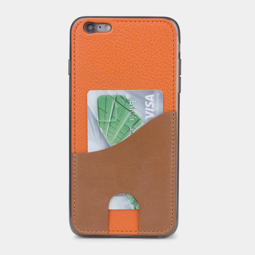 Чехол-накладка Andre для iPhone 6/6s Plus из натуральной кожи теленка, оранжевого цвета