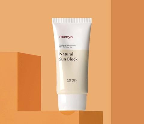 Солнцезащитный крем с физическими (минеральными) фильтрами SPF29 PA++, 50 г / Manyo Natural Sun Block
