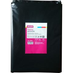 Мешки для мусора на 160 литров Attache черные (65 мкм, в пачке 10 штук, 90x120 см)