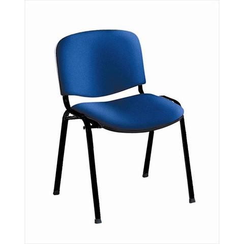 Стул офисный Изо синий (ткань/металл черный)