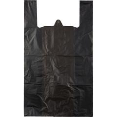 Пакет-майка Знак Качества ПНД усиленный черный 30 мкм (40+18x70 см, 50 штук в упаковке)