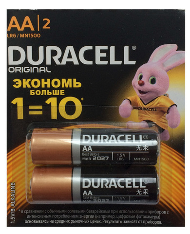 Батарейка Duracell Original тип AA LR6 / MN1500 пальчиковая 1 шт