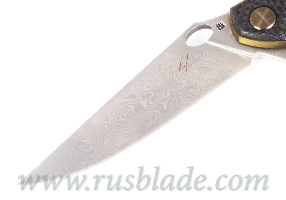 Cheburkov Golden Raven # 161 Damascus Gold Plated - фотография