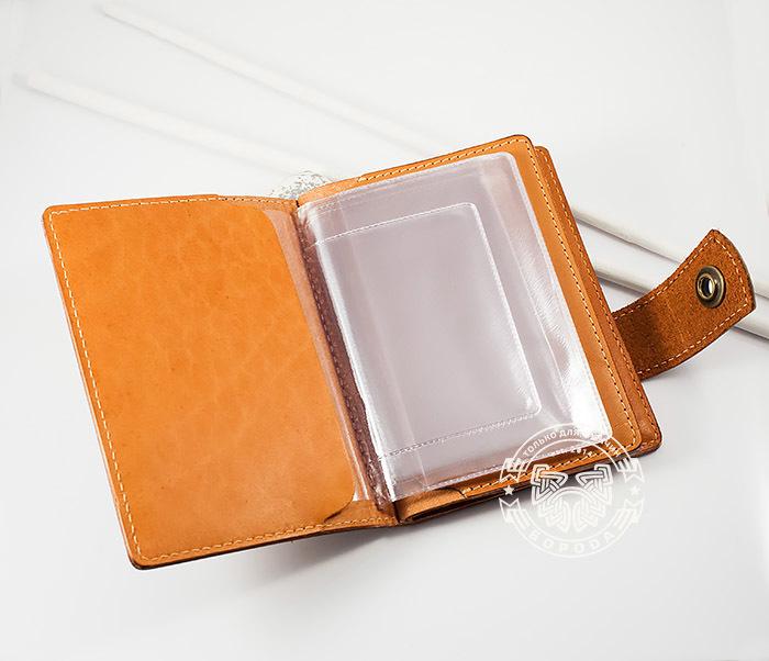 BY11-01-01 Вместительная кожаная обложка для паспорта и документов фото 04