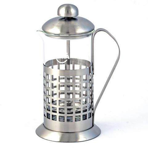Френч-пресс Tima Бисквит боросиликатное стекло/нержавеющая сталь 600 мл (артикул производителя PB-600)