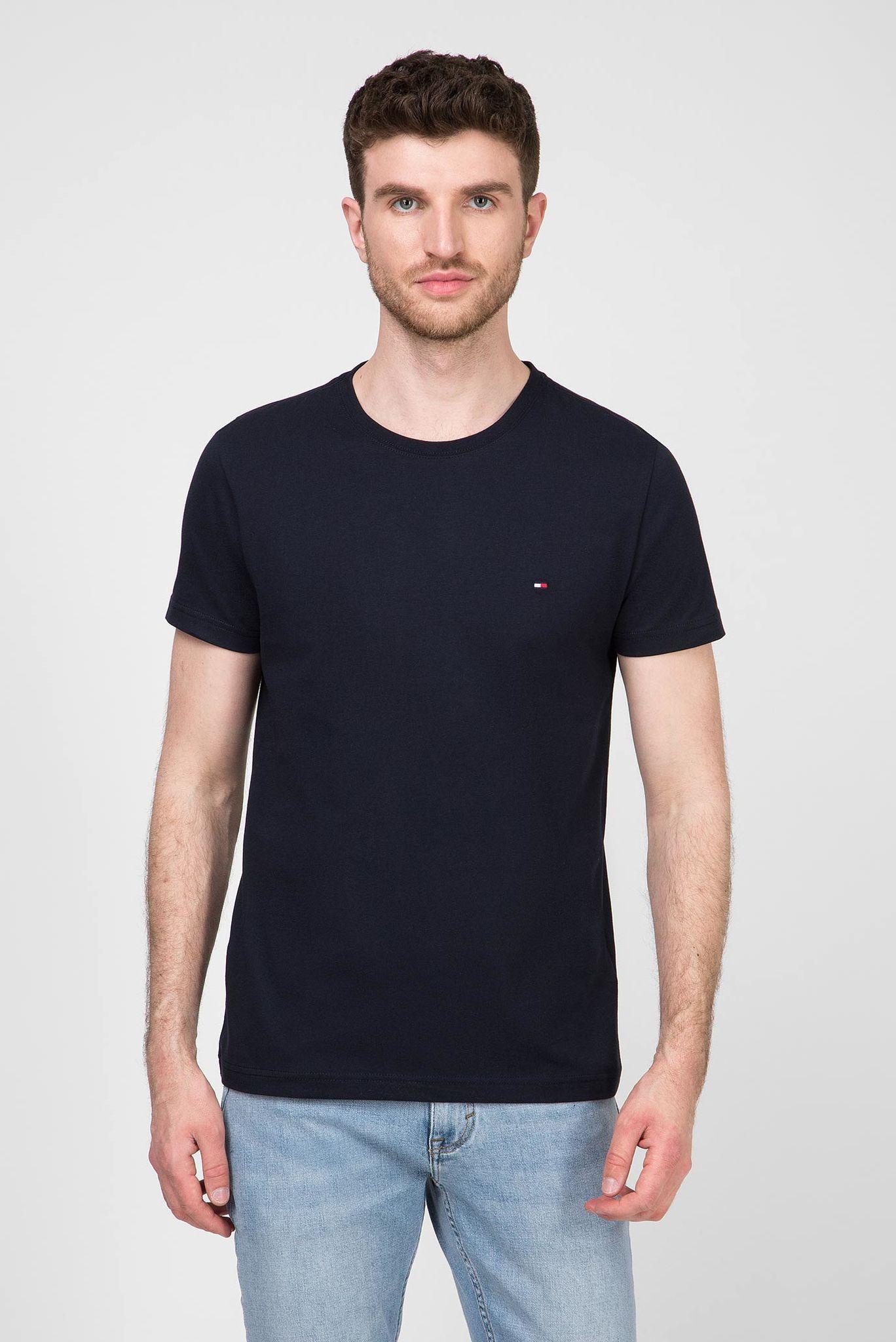 Мужская темно-синяя футболка ESSENTIAL COTTON Tommy Hilfiger