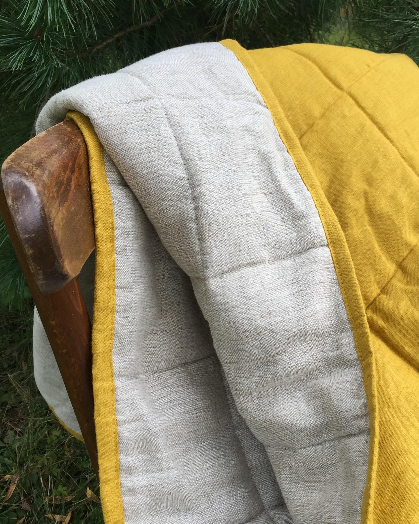 Одеяло детское льняное тёплое с льняным наполнителем