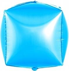 К Шар 3D Куб, Голубой, 24''/61 см, 1 шт.