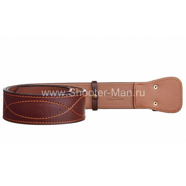 Ремень кожаный генеральский с подкладом ( пряжка с орлом )