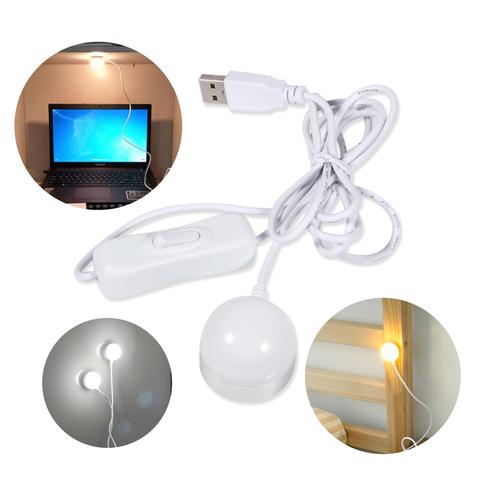 Мини USB LED лампа магнитная с коммутатором 5 Вт для компьютера и чтение книг