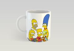 Кружка с рисунком из мультфильма Симпсоны (The Simpsons) белая 001
