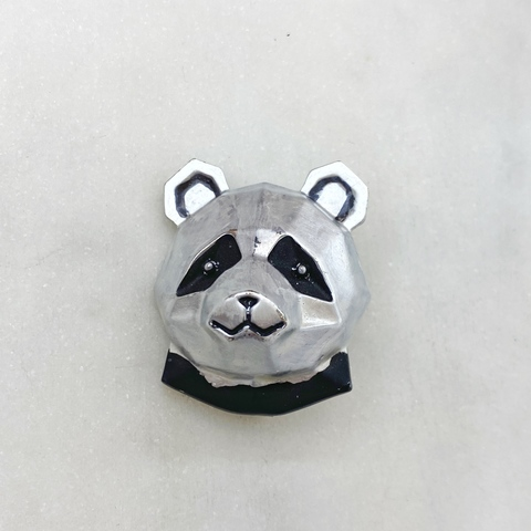 Брошь Медведь Панда Голова