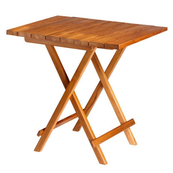 RECTANGULAR FOLDING TABLE TEAK 80X60CM