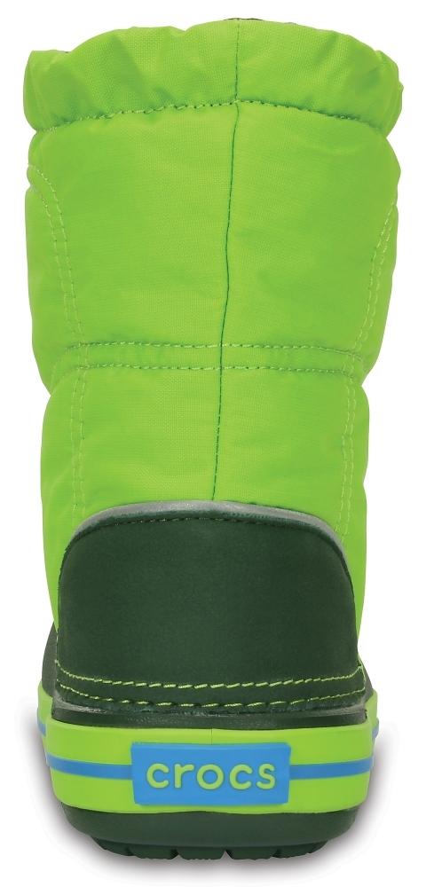Детские сапожки Kids' Crocband LodgePoint Boot Lime/Forest Green купить кроксы 203509