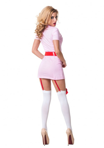 Костюм Похотливая медсестра розовая 02211SM