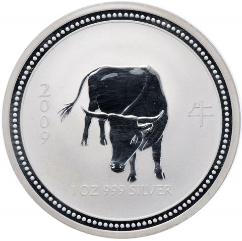 1 доллар. Год Быка 2009. Австралия 2007 год