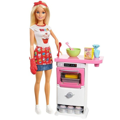 Кукла Барби шеф-повар пекарни с игровым набором