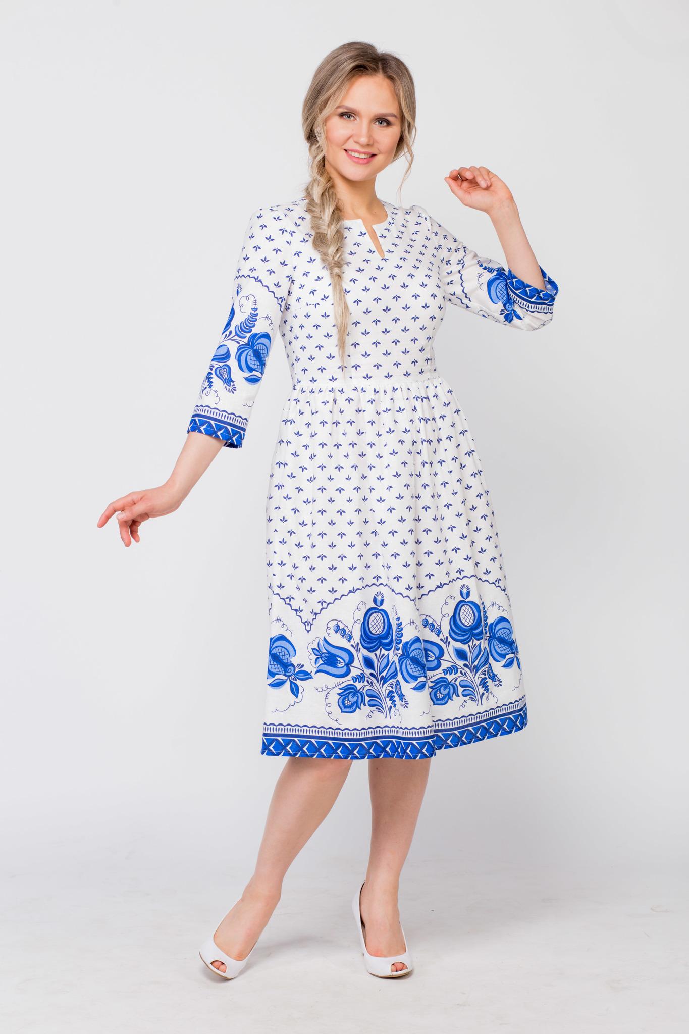 Платье Сказочная гжель