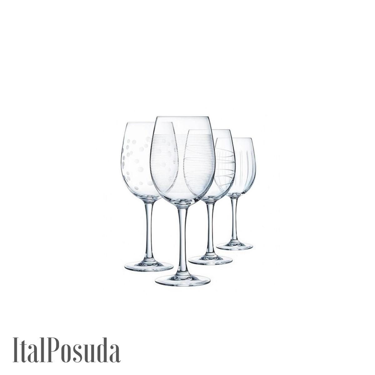 Набор бокалов для вина Eclat Cristal d'Arques Illumination Tulip (Иллюминейшн Тулип), 4 шт L7563