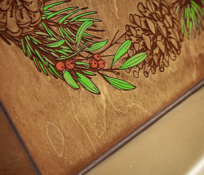 BOX256-2 Большая коробка «С Новым годом и Рождеством!» (25*25*12 см) фото 06
