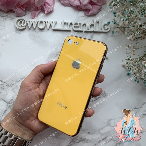 Чехол iPhone 7/8 Glass Case Logo /yellow/