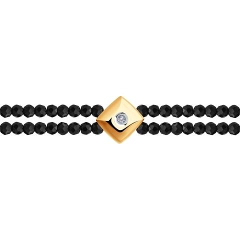 1050118 - Браслет из шпинеля с золотом и бриллиантом