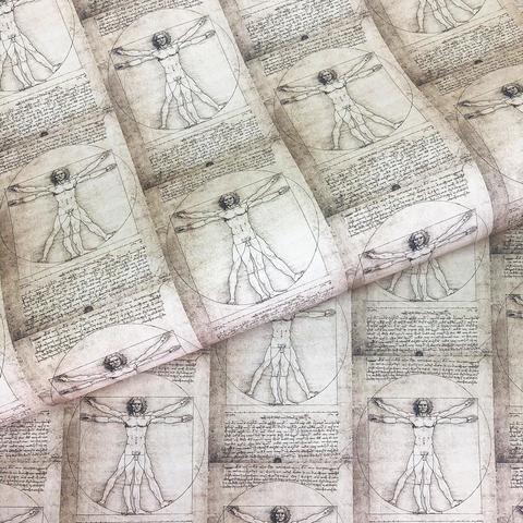 Бумага декоративная подарочная Витрувианский человек