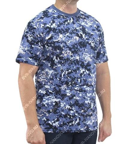 Футболка камуфляжная Цифра Нато синий (ткань кулирка)