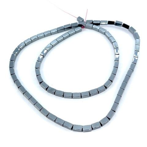 Бусины гематит прямоугольник 5х2,8 мм черный