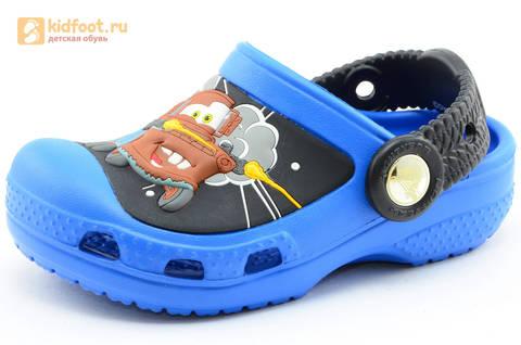 Сабо Крокс (Crocs) пляжные шлепанцы кроксы для мальчиков, цвет синий. Изображение 1 из 12.