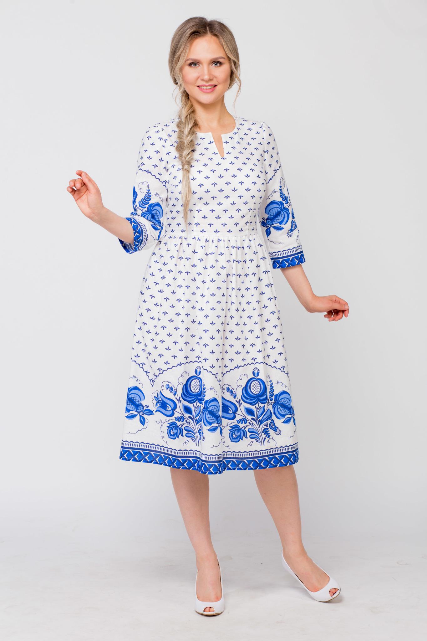 Платье Сказочная гжель купить