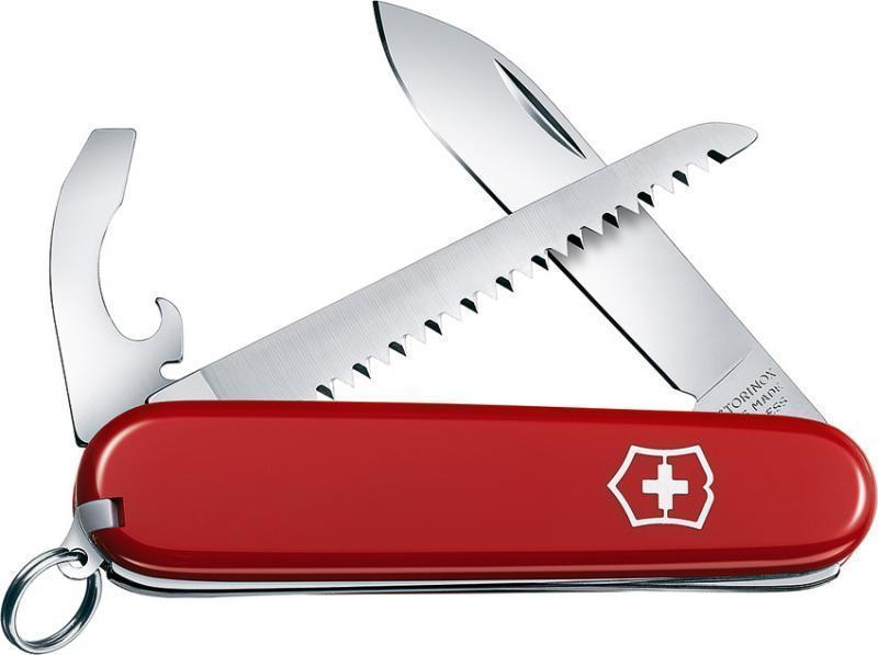 Складной швейцарский нож Victorinox Walker (0.2313) 84 мм., 9 функций, цвет красный